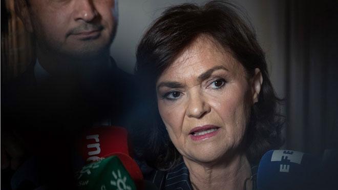 Carmen Calvo: Torra ha trazado una linea literalmente inaceptable.