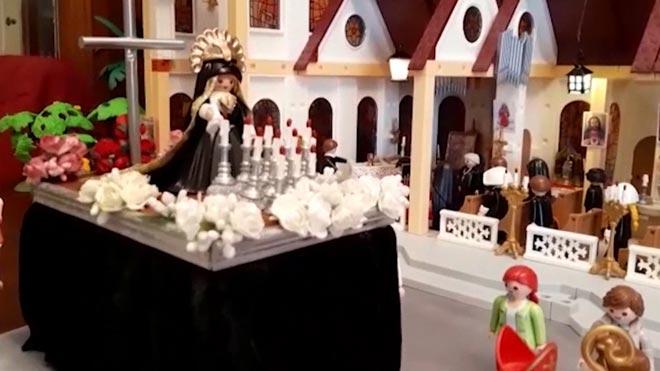 Els clics de Playmobil, convertits en confrares de la Setmana Santa de Mataró