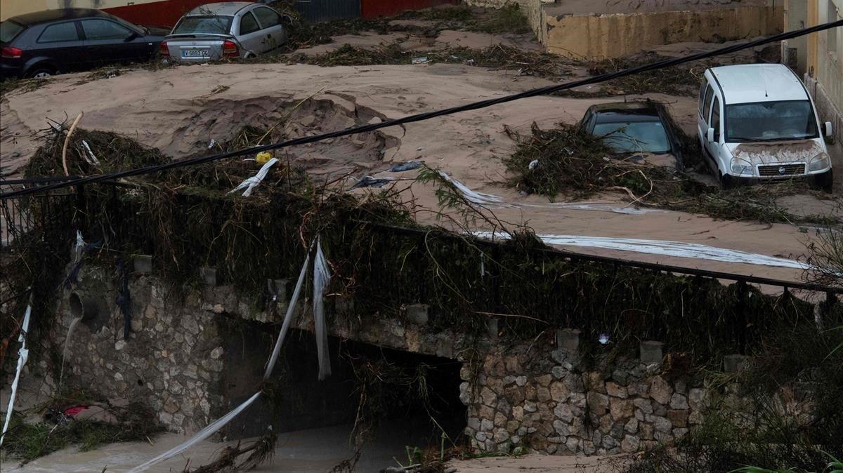 Lluvias torrenciales en Ontinyent, Valencia.