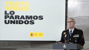 El comisario principaly director logístico de la Policía Nacional, José García Molina.
