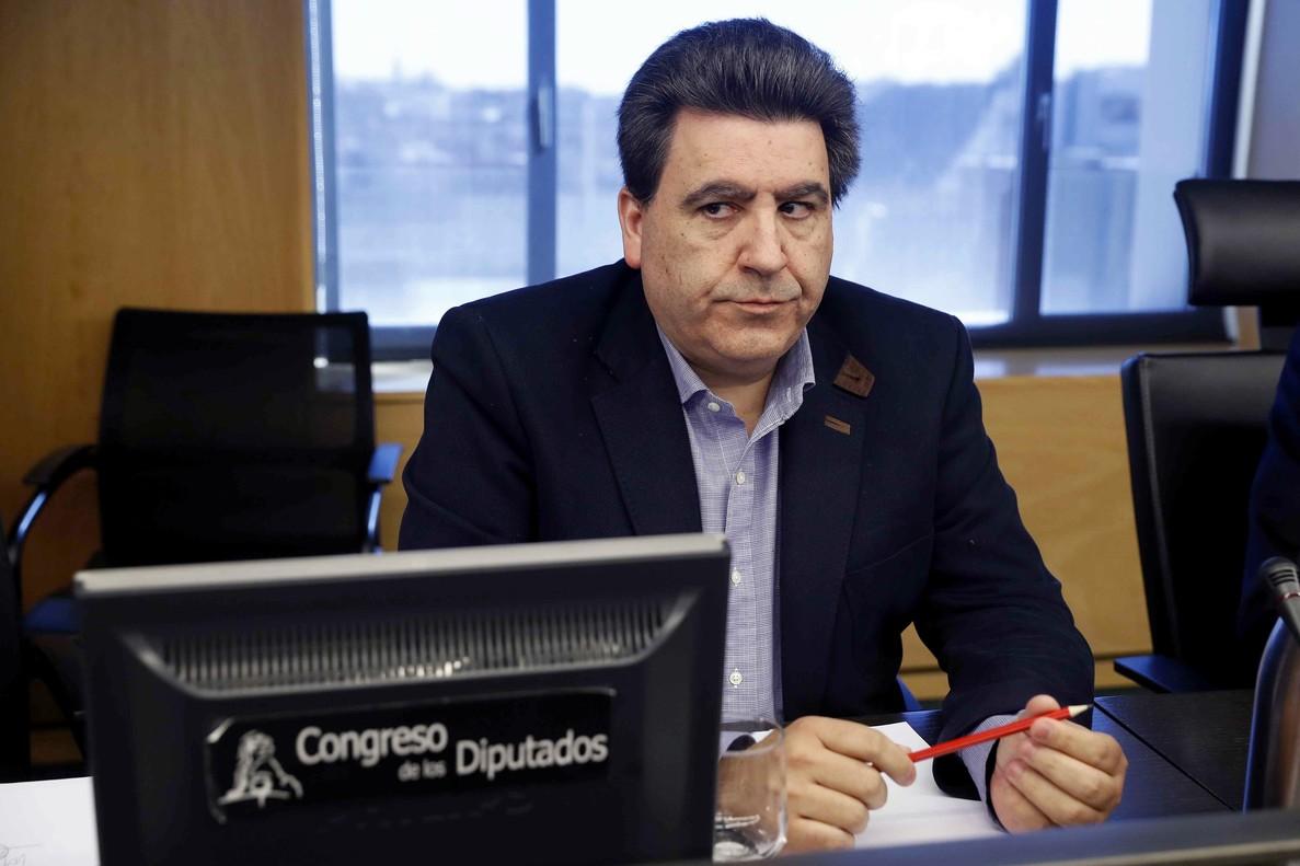 El constructor David Marjaliza, considerado uno de los cabecillas de la trama Púnica, durante su comparecencia ante la comision de investigacion del Congreso sobre la supuesta financiacion ilegal del PP.