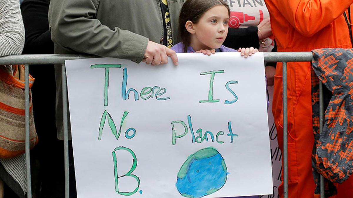 Una niña, en una concentración por el Día de la Tierra en Nueva York, el 22 de abril del 2017.