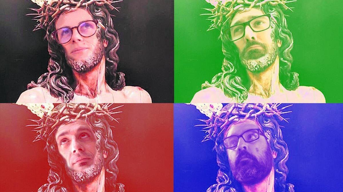 Diversos montajes sobre el Cristo de la Amargura.