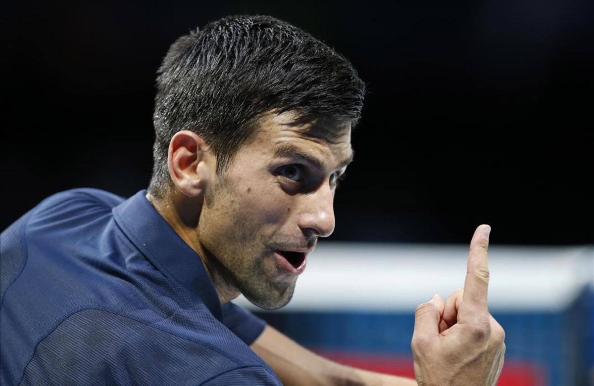 Djokovic, durante su partido ante Goffin.