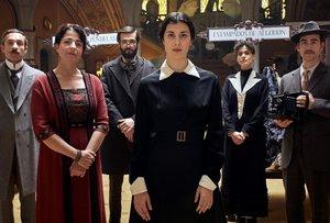 Algunos de los personajes del telefilme La dona del segle.
