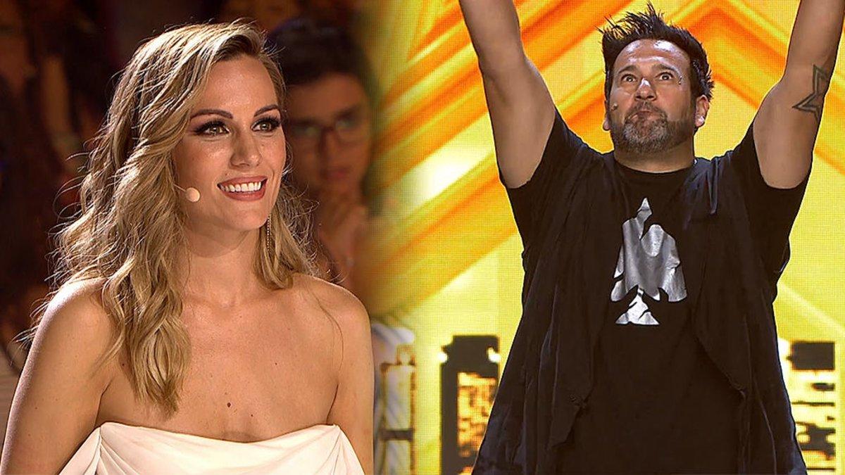 Edurne y Mark García, su pase de oro en 'Got talent 5'.