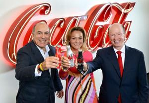 Els representants de les tres empreses fusionades, aquest dijous a Madrid.