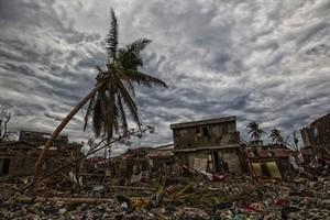 Escombros en una imagen captadapor la misión de la ONU en Haití.