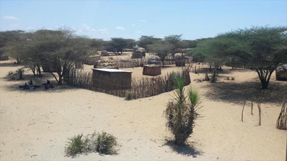 Una de las aldeas de la región de Kerio, en Kenia.