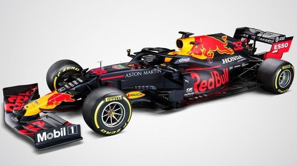 Este es el nuevo y revolucionario, por su morro, Red Bull RB16 del Mundial de F-1.