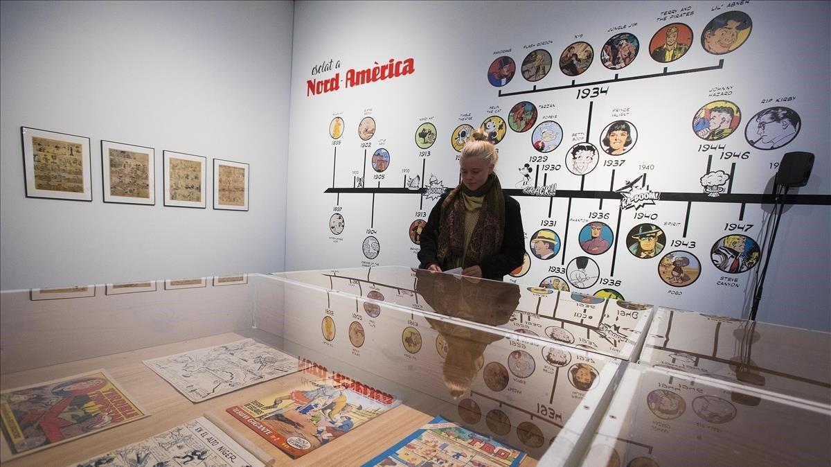 Exposición de cómic en el Centre d'Art Santa Mònica.