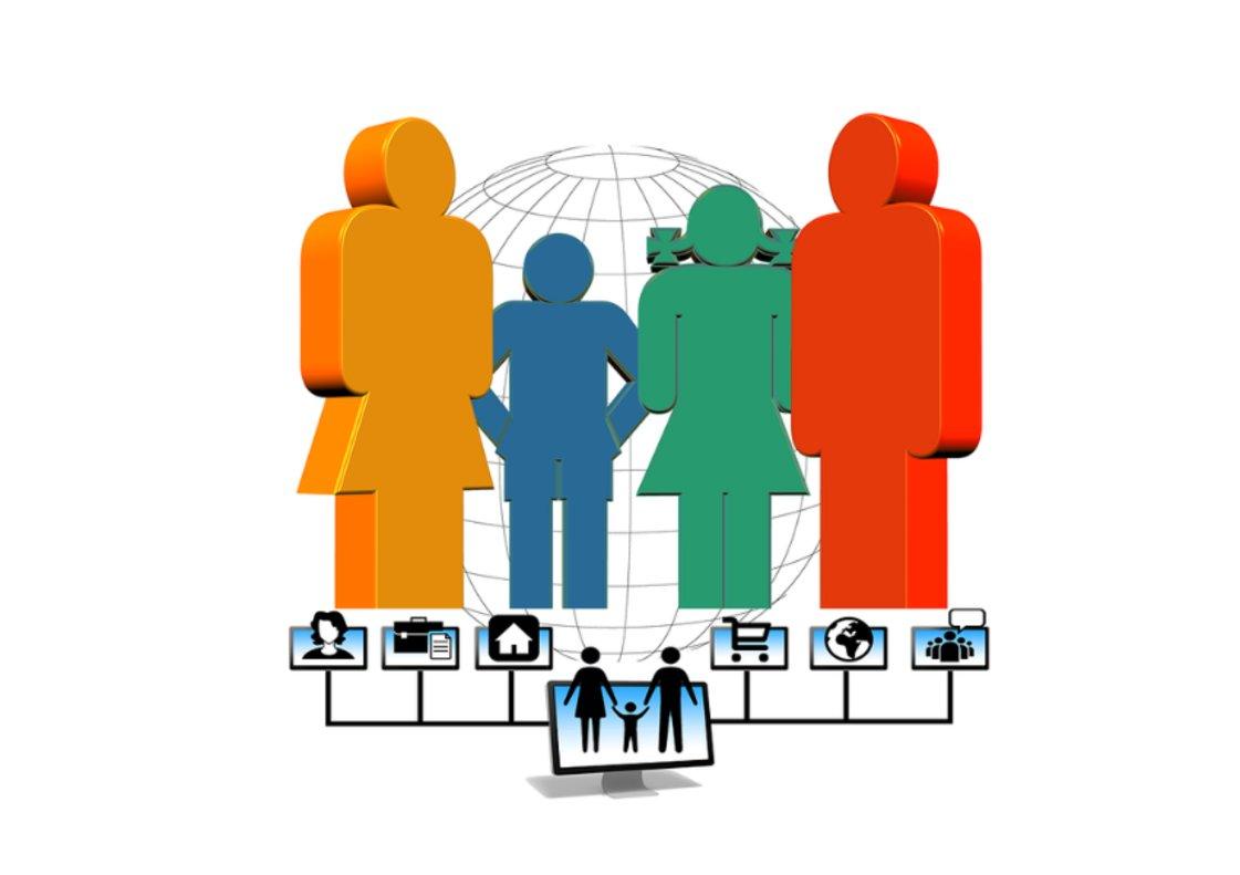 Existen 5 tipos diferentes de familia conectada