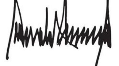 ¿Qué dice la firma de Donald Trump sobre su personalidad?