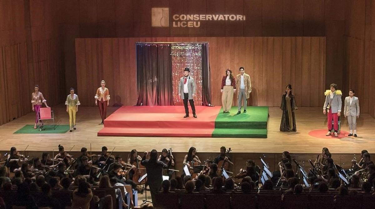'La flauta mágica' en el Conservatori del Liceu.