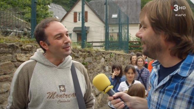 Masferrer con Toño, en Les (TV3).