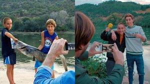 George y Èric, los niños de Benifallet, del programa El foraster, hace cinco años y actualmente.