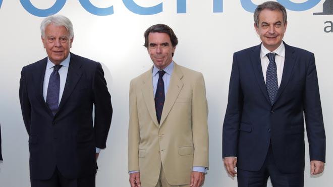 Los tres ex presidentes del Gobierno ofrecen su visión sobre los temas de actualidad española, como los desafíos que afronta España.