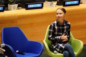 Greta Thunberg, en un acto en Nueva York.