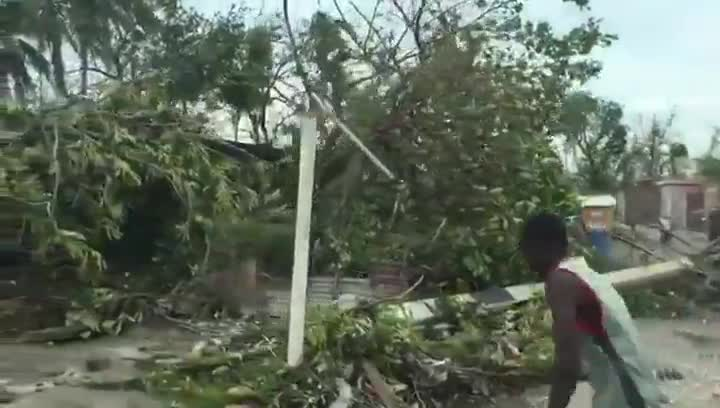 Devastación en Haití.