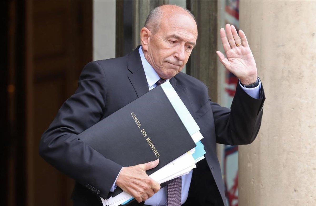 El dimisionario ministro del Interior francés, Gérard Collomb.