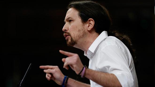 El líder de Podemos insta al líder del PSOE a dejar al Maquiavelo Rivera