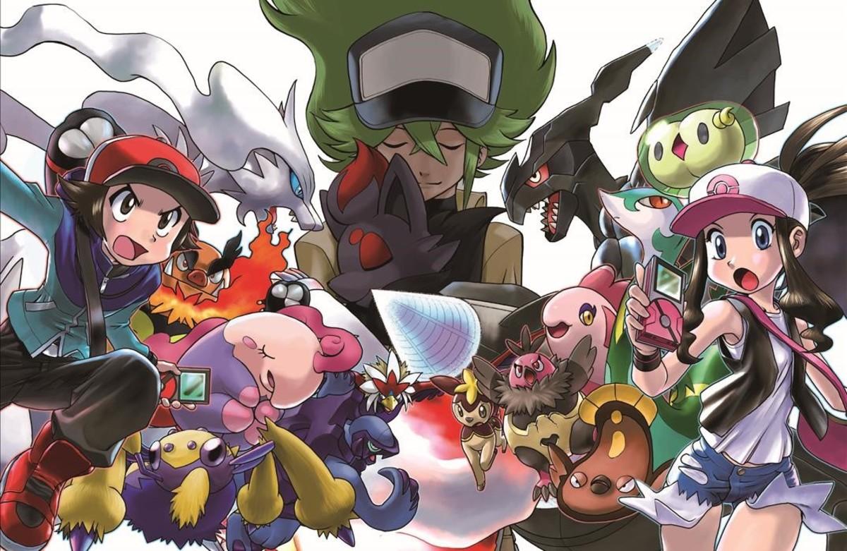 Ilustración del manga Pokémon, de Yamamoto y Kusaka.