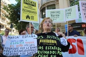 Imagen de archivo de una protesta en Barcelona contra los abusos hipotecarios.