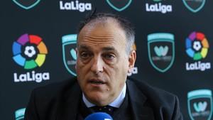 Javier Tebas, presidente de la Liga de Fútbol Profesional (LFP).
