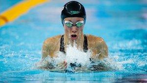 Jessica Vall, en los 200 metros braza.
