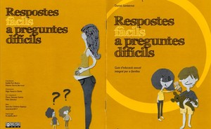 Portada y contraportada de la guía de educación sexual de Save the Children.