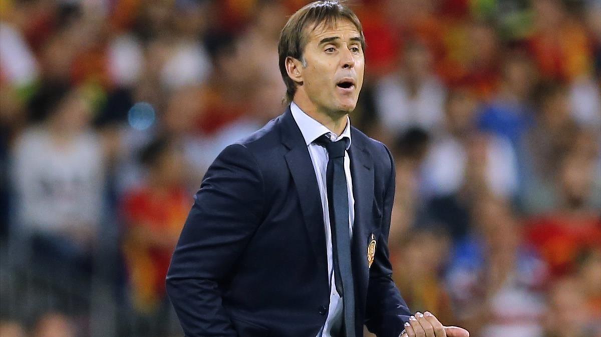 El entrenador de la selección, Julen Lopetegui, en un partido reciente.