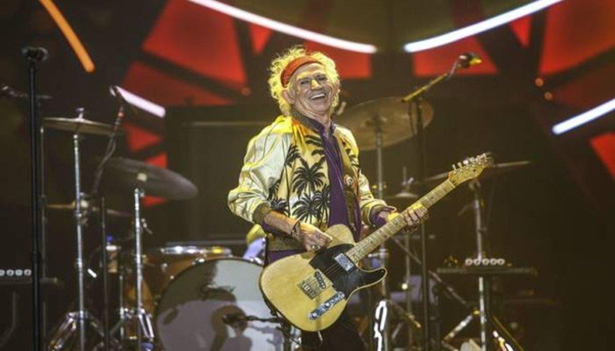 Keith Richards guitarrista de la banda de rockThe Rolling Stones. EPA