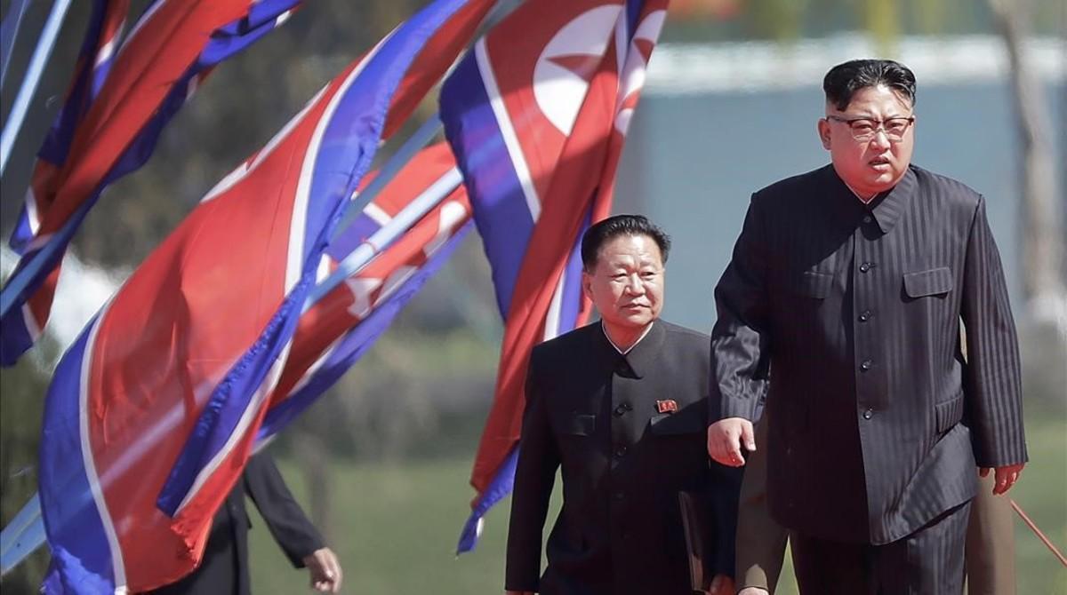 Kim Jong Un, en Pyongyang.