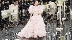 Desfile de alta costura de Chanel en París, en enero pasado
