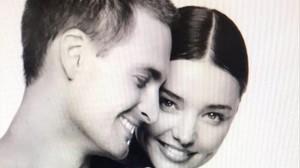 Miranda Kerr y su prometido, Evan Spiegel.