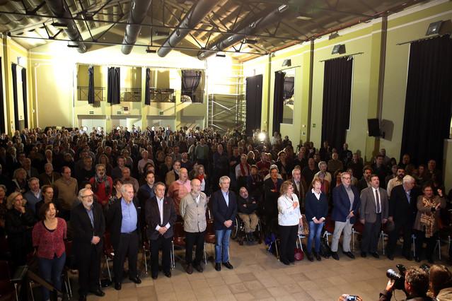 Los asistentes a la presentación del Moviment d'Esquerres, durante el acto.
