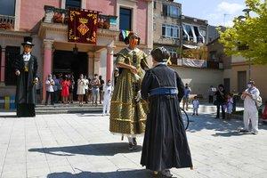 Los Gegants de Rubí acudieron a la cita de Sant Pere.