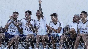 Los jugadores de Argentina, en uno de sus últimos entrenamientos.