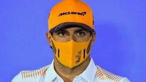 El madrileño Carlos Sainz, hoy, en la conferencia de prensa de presentación del GP de Austria, que abre este fin de semana el Mundial de F-1.
