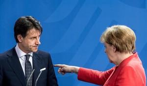 Merkel y Conte.
