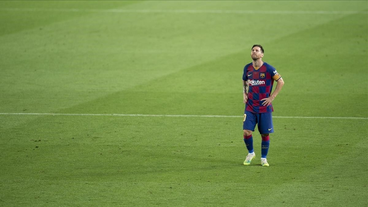 Messi, tras encajar el segundo gol de Osasuna.