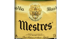 Mestres Mas Via 1997, cava de larga crianza.