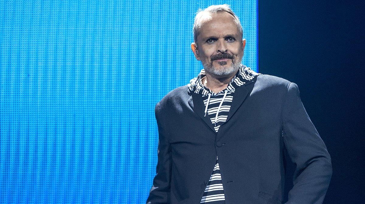 Miguel Bosé, durante un concierto en el Auditori del Fòrum de Barcelona, en el 2017.