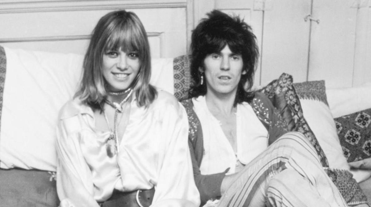 Anita Pallenberg y Keith Richars, en una foto de archivo.