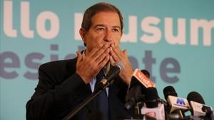 Nello Musumeci, tras su victoria en las elecciones autonómicas en Sicilia.