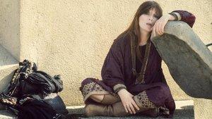 Nico, en el edificio La Rotonda de Barcelona, en 1975