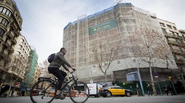 Nuevo hotel de Núñez y Navarro en el Eixample, con licencia antes de la moratoria y que abrirá este año.