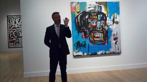 La obra de Basquiat Untitlet,de 1982, subastada en la casa Sothebys de Nueva York.