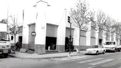 Obras de construcción de la discoteca Paladium en la Zona Hermética, en 1993.