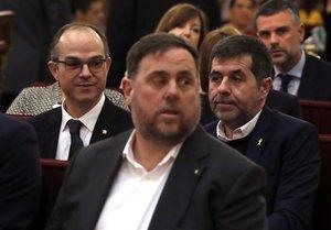 Oriol Junqueras, durante el juicio en el Tribunal Supremo.